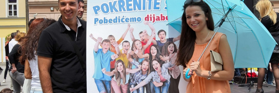 Kampanja udruženja 2000 maturanata plesom protiv dijabetesa Trg slobode Novi Sad 2013
