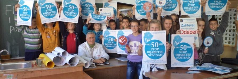 Kampanja protiv dijabetesa u prigradskim osnovnim školama Novog Sada 2012