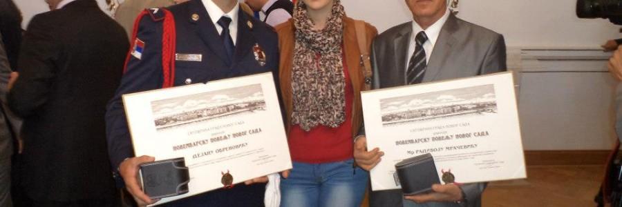 Novembarska povelja grada Novog Sada 2012 uručena mr Radivoju Mračeviću